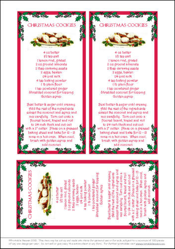 Download - Recipe - Christmas Cookies