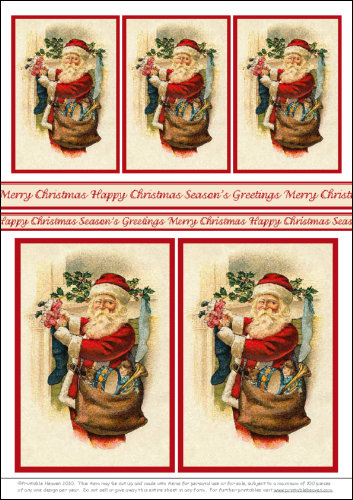 Download - Motifs - Santa Filling Stocking