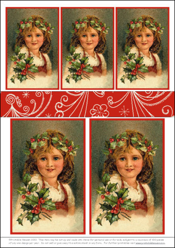 Download - Smiley Holly Girl - Motifs