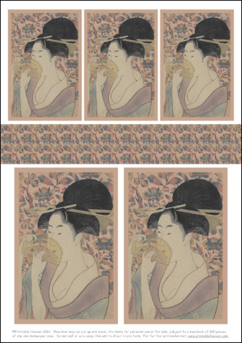 Download - Geisha with Comb - Motifs
