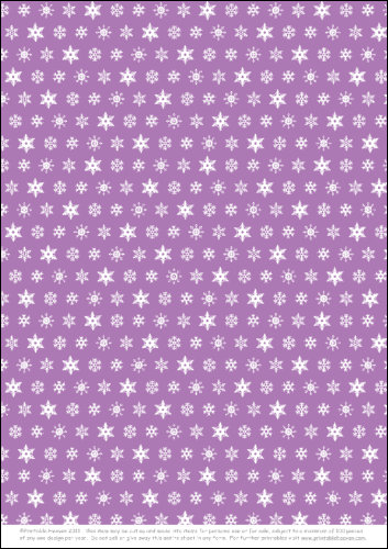 Download - Lance and Lucy Snowflakes - Purple Background