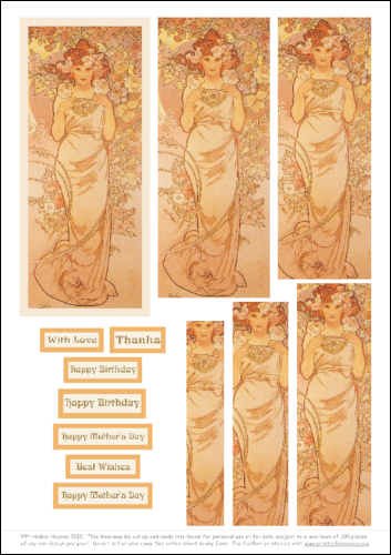 Download - Mucha Rose Lady - Pyramage