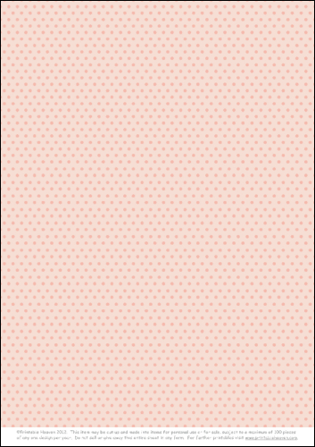 Download - A4 Background - Mini Polka - Pink