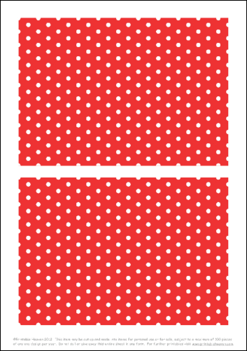 Download - 50s Polka 7 x 5 Panels - Red