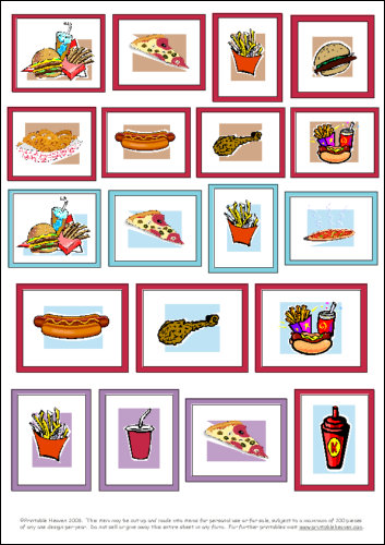 Download - Fast food motifs - large