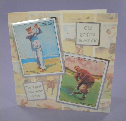 Golfer Cigarette Cards card