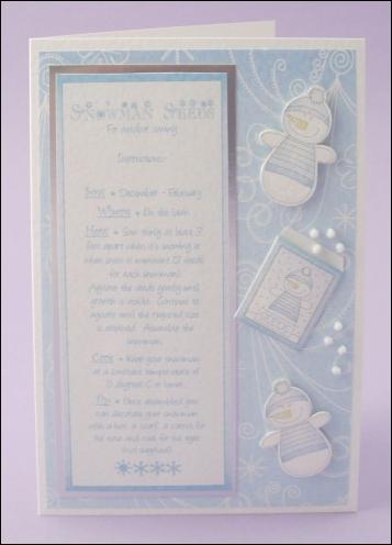 Snowman Seeds card