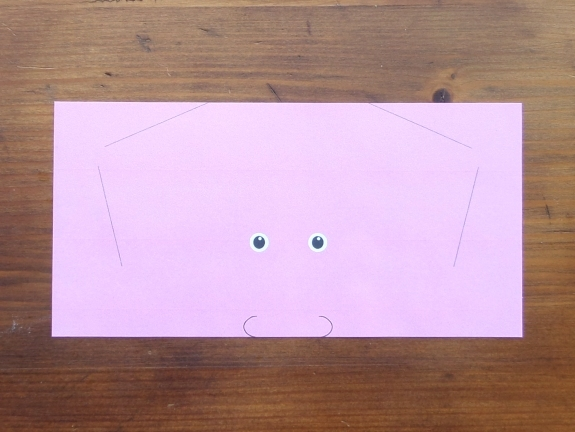 Origami bunny head 1