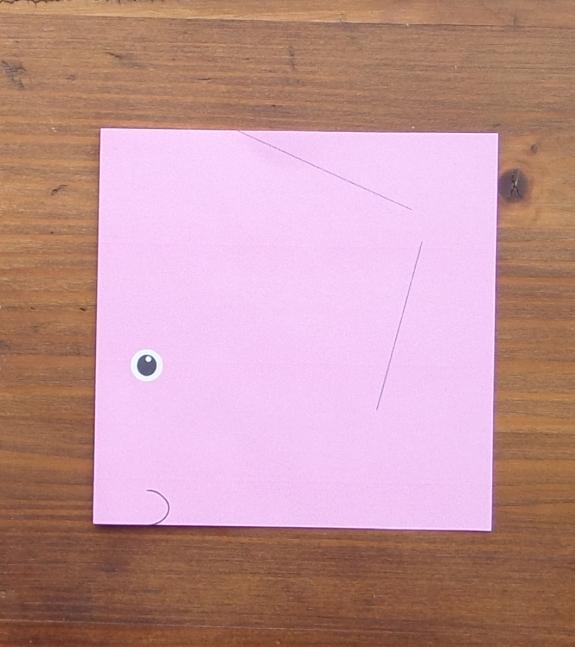 Origami bunny head 2