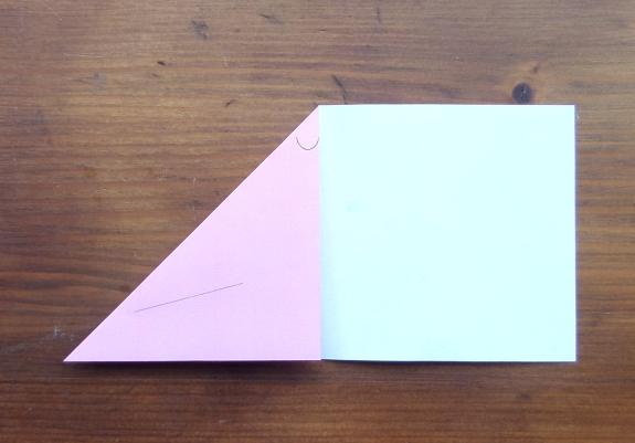 Origami bunny head 3