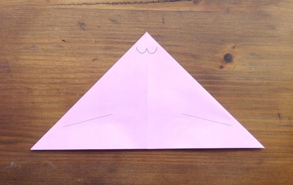 Origami bunny head 4