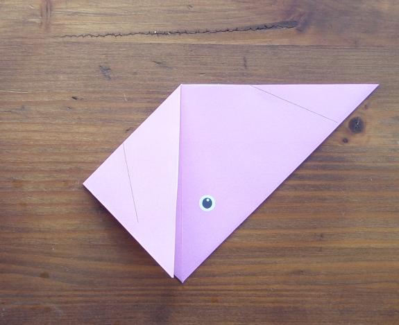 Origami bunny head 5