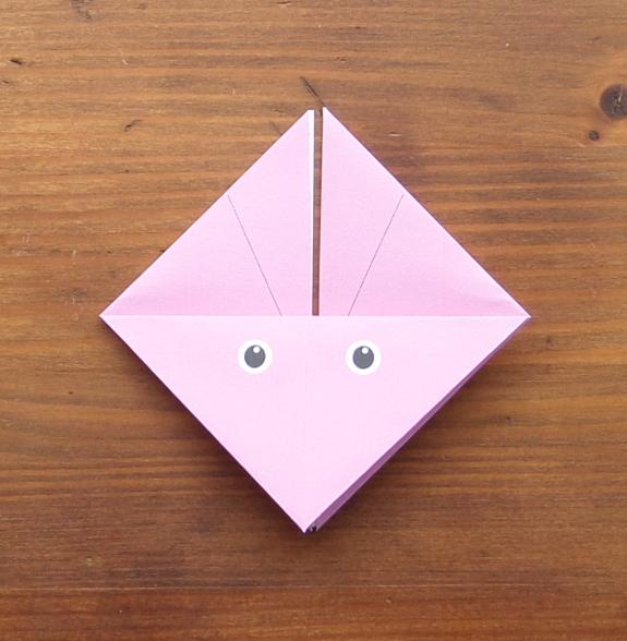 Origami bunny head 8