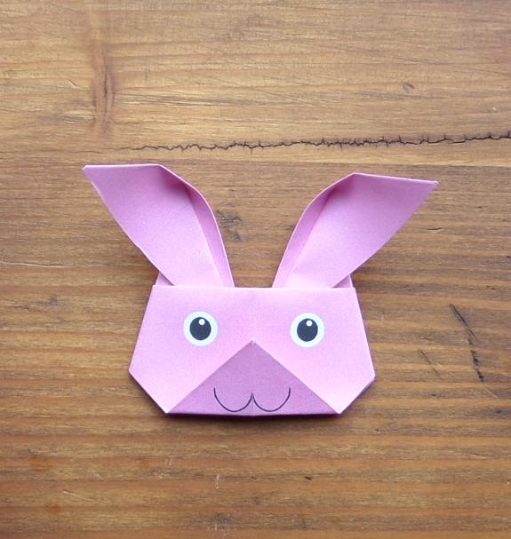 Origami bunny head 14