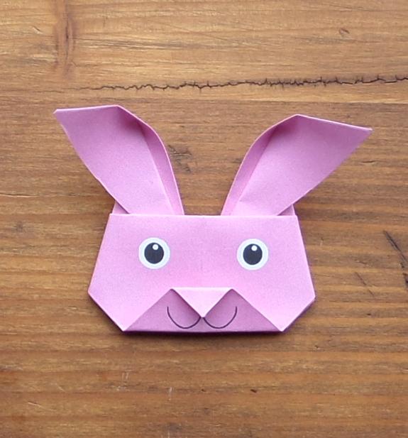 Origami bunny head 15