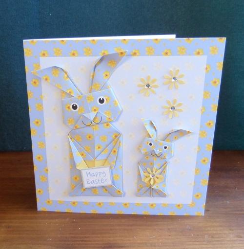 Origami bunny blue