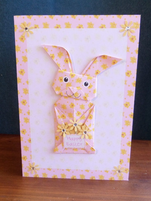Origami bunny pink