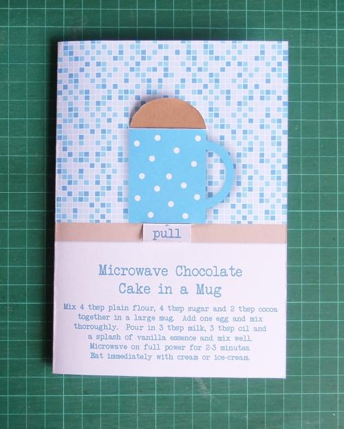 Simple Chocolate Cake in a Mug Card