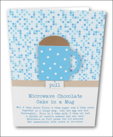 Project - Simple Chocolate Cake in a Mug - Blue