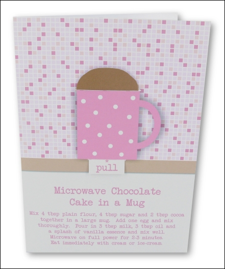 Project - Simple Chocolate Cake in a Mug - Pink