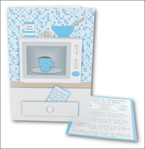 Project - Microwave Cake in a Mug Card - Blue