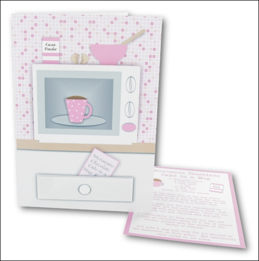 Project - Microwave Cake in a Mug Card - Pink