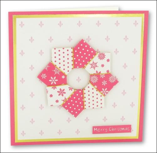 Origami Wreath Card