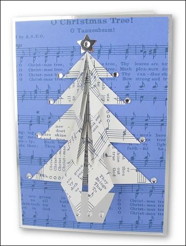 Origami Music Christmas Tree