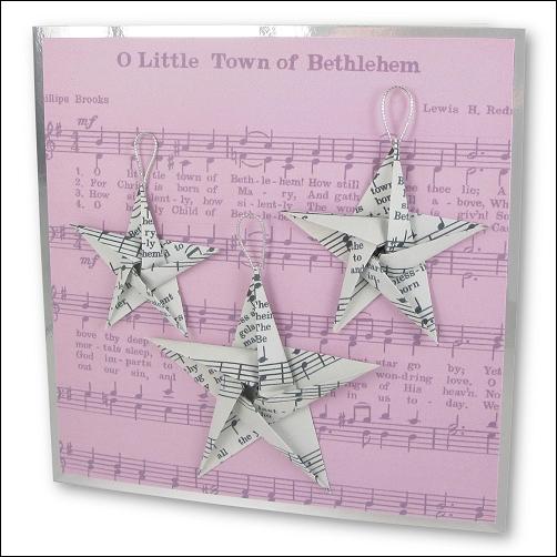 Origami Music Christmas Stars