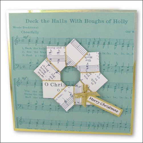 Origami Music Christmas Wreath
