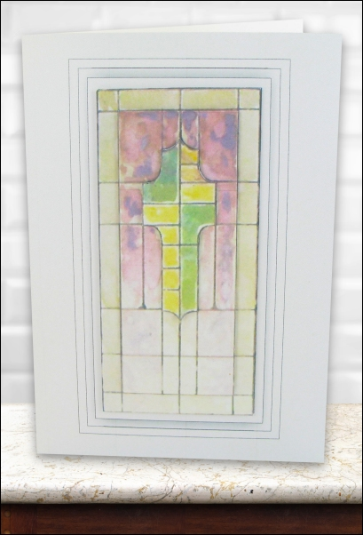 Project - Stained Glass Cross Decoupage Card