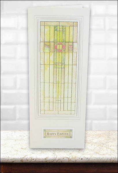 Project - Stained Glass Large Cross Easter card