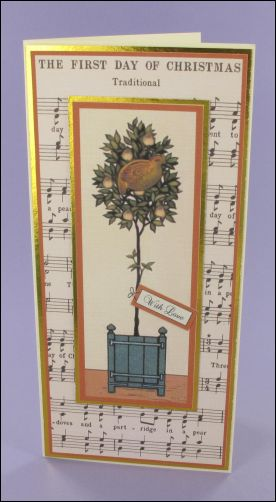 Project - Partridge in a Pear Tree Music card