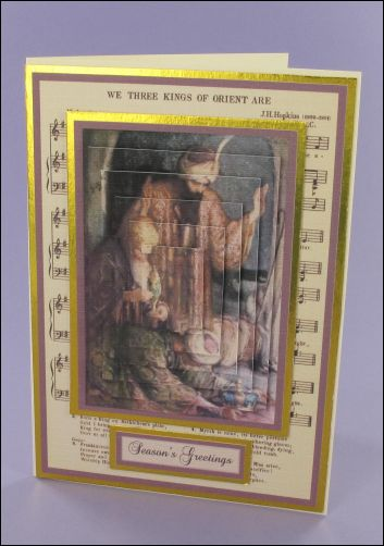Project - Three Wise Men Music card