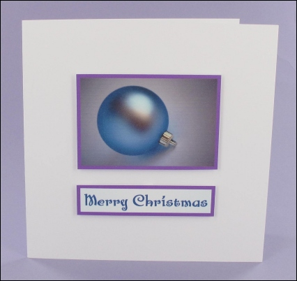 Project - Frosted Bauble Photo Motif Card