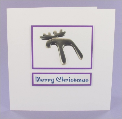 Project - Silver Reindeer Photo Motif Card