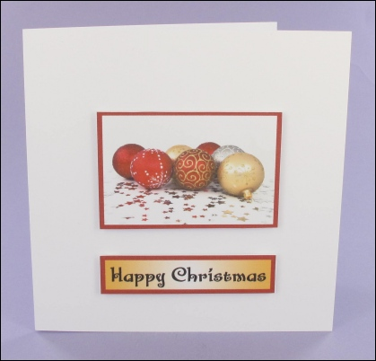 Project - Mixed Baubles Photo Motif Card
