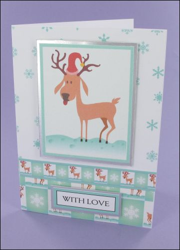 Project - Reindog Christmas card