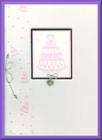 Project - Pink wedding cake card