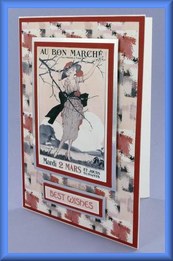 Project - Au Bon Marché Best Wishes Card