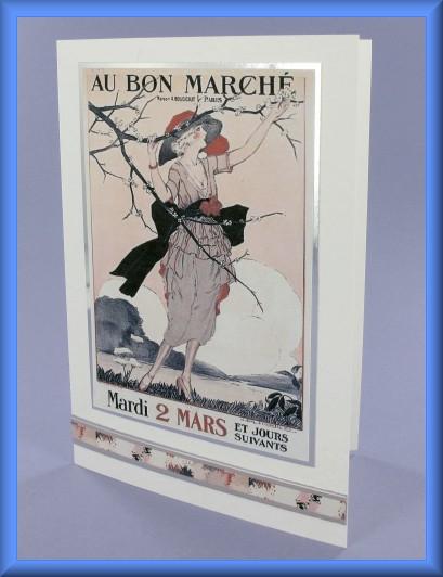 Project - Au Bon Marché Picture Motif Card