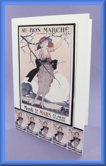 Project - Au Bon Marché A5 Picture Motif Card