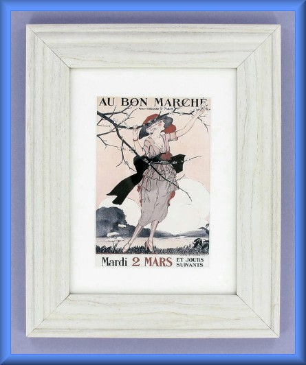 Project - Framed Au Bon Marche Postcard