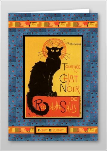 Project - Chat Noir Happy Birthday Card