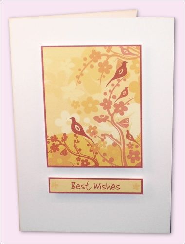 Project - Golden Woodland Card