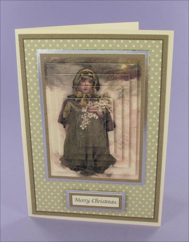 Project - Lizzie Lawson girl Christmas card