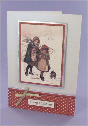 Project - Collecting Mistletoe Christmas card