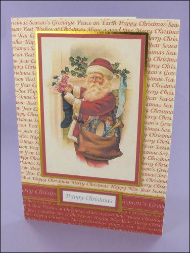 Project - Santa filling Stocking Christmas card