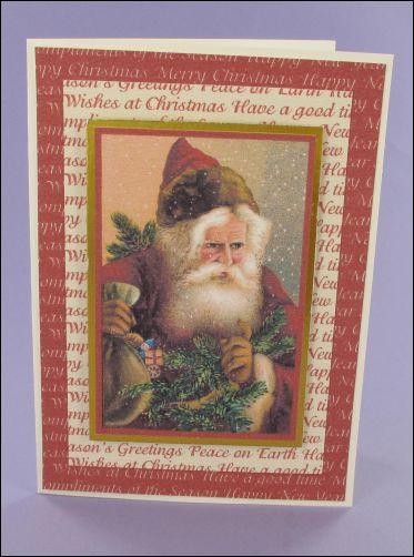 Project - Lovely Santa Christmas card