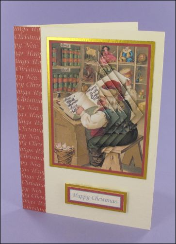 Project - Santa's list Pyramage card